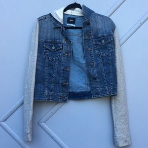 Urban Outfitters Denim Jacket With Grey Sleeves